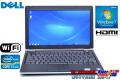 良品 中古ノートパソコン モバイル デル Latitude E6220 Core i5 2520M (2.50GHz) Windows7 メモリ4G HDD250GB WiFi