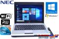 マルチ搭載 中古ノートパソコン NEC VersaPro VK13M/BB-B 超低電圧版 Core i5 560UM (1.33GHz) Windows10 メモリ4G HDD320G WiFi