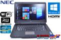 中古ノートパソコン Windows10 64bit NEC VersaPro VJ24T/L-D Corei5 2430M (2.4GHz) メモリ4G マルチ WiFi 15.6型ワイド