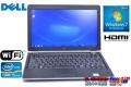 中古ノートパソコン DELL(デル) Latitude E6220 2コア4スレッド Core i5 2520M (2.50GHz) メモリ3G HDD250GB WiFi Windows7 モバイル