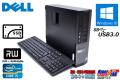 新品 SSD 中古パソコン 4コア Core i5-3470 (最大3.60GHz) Windows10 64bit DELL OPTIPLEX 7010 メモリ4GB マルチ USB3.0