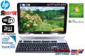 20型ワイド液晶一体型パソコン HP Omni120-2020jp Pentium G620 (2.60GHz) メモリ4GB Webカメラ Windows7 64bit