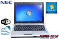 中古モバイルノートパソコン NEC VersaPro VK10E/BB-B 超低電圧版 DualCore Celeron U3400(1.06GHz) WiFi メモリ2G Windows7 12.1型