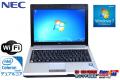 中古モバイルノートパソコン NEC VersaPro VK10E/BB-B 超低電圧版 DualCore Celeron U3400(1.06GHz) WiFi メモリ2G Windows7 訳あり