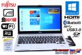 新品SSD フルHD液晶 中古ノートパソコン 富士通 LIFEBOOK S904/J Core i5 4300U (1.90GHz) メモリ4G マルチ WiFi Bluetooth カメラ Windows10 64bit
