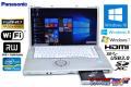 フルHD 中古ノートパソコン パナソニック Let's note B11 Core i5 3340M (2.70GHz) Windows10 64bit メモリ4G USB3.0 WiFi マルチ
