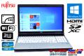 新品SSD 中古ノートパソコン 富士通 LIFEBOOK E741/D Core i7 2640M (2.80GHz) Windows10 64bit メモリ4G マルチ WiFi HDMI テンキー