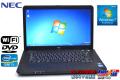 中古ノートパソコン NEC VersaPro VK25L/A-G Corei3 3120M (2.5GHz) メモリ4G HDD320G WiFi DVD Windows7 32bit 15.6型ワイド