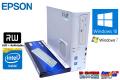 中古パソコン EPSON Endeavor AT991E デュアルコア Celeron G1610 (2.60GHz) Windows10 メモリ2G HDD500GB DVD Windows7リカバリ付