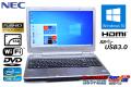 フルHD 中古ノートパソコン NEC VersaPro VK27M/D-G Core i5 3340M (2.70GHz) 新品SSD128G メモリ4GB WiFi USB3.0 HDMI Windows10