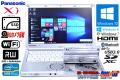 SSD LTE(Xi) 中古ノートパソコン パナソニック Let's note SX2 Core i5 3340M (2.70GHz) メモリ4G マルチ WiFi カメラ Windows10 Lバッテリ-