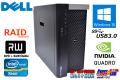 メモリ16G 中古パソコン DELL PRECISION T7600 8コア16スレッド Xeon E5 2687W (3.10GHz) RAID Windows10 64bit Quadro5000 ワークステーション