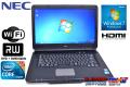 15.6型ワイド ノートパソコン NEC VersaPro VK26M/X-B Corei5 560M(2.66GHz) メモリ2G WiFi マルチ Windows 7