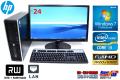 24型フルHD液晶セット 中古パソコン HP 6200 Pro SF Core i3 2100(3.10GHz) Windows7 64bit メモリ4G HDD250GB DVDマルチ