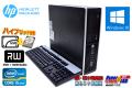 HDD&新品SSD 中古パソコン HP 8200 Elite SF 4コア Core i5 2500 (3.30GHz) メモリ8GB Windows10 64bit マルチ