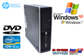 WindowsXP 中古パソコン HP 8200 Elite SF Core i5 2400(3.10GHz) メモリ4G HDD250GB DVD Windows7リカバリ付