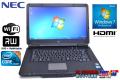 中古ノートパソコン NEC VersaPro VK26M/X-B Corei5 560M(2.66GHz) メモリ2G WiFi マルチ Windows7