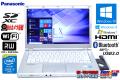 中古ノートパソコン Panasonic Let's note LX3 Core i5 4300U (1.90GHz) メモリ4G Windows10 WiFi マルチ Bluetooth カメラ USB3.0