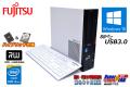 メモリ8G 新品SSD+HDD 中古パソコン 富士通 ESPRIMO D753/K Core i5-4590 (3.30GHz) マルチ USB3.0 Windows10
