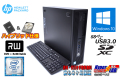 ハイブリッド 中古パソコン HP ProDesk 800 G2 SFF Core i7 6700 (最大4.00GHz) メモリ8G 新品SSD256G HDD1TB Windows10Pro
