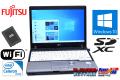 中古ノートパソコン 新品SSD 富士通 LIFEBOOK P772/F Celeron 887 (1.50GHz) メモリ4G Wi-Fi SDXC USB3.0 Windows10 64bit