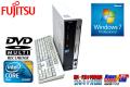 省スペースパソコン 富士通 FMV-D530/A Core2DUO E7500(2.93GHz) メモリ2G DVDマルチ HDD320GB Windows7