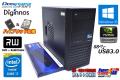 ミニタワー メモリ16G 中古パソコン Diginnos Core i7 4770 (3.40GHz) 新品SSD256G HDD2TB マルチ Quadro K2000 Windows10 64bit