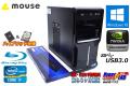 Blu-ray ミニタワー メモリ32G 中古パソコン mouse Mpro-i512GX Core i7 3770 (3.40GHz) SSD256G HDD500G Quadro K2000D Windows10 64bit