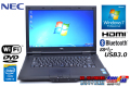 Windows7 32bit 中古ノートパソコン NEC VersaPro VK25L/A-N Corei3 4100M (2.50GHz) メモリ4G HDD500G DVD Bluetooth HDMI