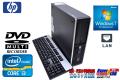 新品マルチ搭載省スペースパソコン 2コア/4スレッド Windows7Pro HP 6200 Pro Core i3-2120(3.30GHz) メモリ2G 250GB
