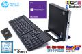 Wi-Fi内蔵 新品SSD ミニPC 中古パソコン HP ProDesk 400 G3 DM Core i5 6500T (2.50GHz) メモリ8G Bluetooth USB3.1 Windows10リカバリ付
