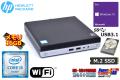 M.2SSD+HDD メモリ16G 小型 中古パソコン HP ProDesk 400 G3 DM Core i5 6500T (2.50GHz) Wi-Fi  USB3.1 Windows10Pro リカバリ付