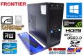 GeForceGTX 中古パソコン FRONTIER FRGA515S/D Core i7 3770K (3.50GHz) メモリ8G SSD128G HDD500G マルチ Windows10