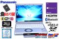 中古ノートパソコン 新品SSD Panasonic Let's note SZ5 Core i5 6300U (2.40GHz) メモリ4G Wi-Fi (ac) マルチ Bluetooth Webカメラ Windows10
