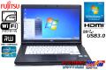 SSD Windows7 富士通 中古ノートパソコン LIFEBOOK A572/E Core i5 3320M (2.60GHz) メモリ4GB DVD USB3.0 WiFiアダプタ付