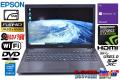GeForceGTX 中古ノートパソコン フルHD EPSON Endeavor NJ5970E Core i5 4210M メモリ8G 新品SSD Wi-Fi Webカメラ DVD Windows10
