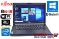 富士通 中古ノートパソコン LIFEBOOK A553/H Celeron 1000M (1.80GHz) カメラ Bluetooth メモリ4GB マルチ WiFi Windows10 64bit