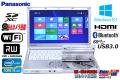 Windows8.1 中古ノートパソコン パナソニック Let's note SX2 Core i5 3340M (2.70GHz) メモリ4G USB3.0 WiFi マルチ BT カメラ