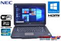 中古ノートパソコン NEC VersaPro VJ24T/L-D Corei5 2430M (2.40GHz) メモリ4G Windows10 64bit WiFi マルチ 15.6型ワイド