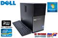 中古パソコン DELL OPTIPLEX 990 MT 4コア8スレッド Core i7 2600 (3.40GHz) メモリ4GB Windows7 マルチ ミニタワー
