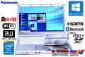 パナソニック 中古ノートパソコン Let's note SX3 Core i5 4300U (1.90GHz) メモリ4G Windows10 WiFi マルチ カメラ USB3.0 Lバッテリー
