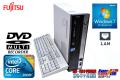 Windows7 中古省スペースパソコン 富士通 FMV-D550/A Core2DUO E7500(2.93GHz) メモリ2G DVDマルチ HDD160GB