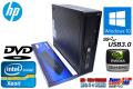 Windows10 64bit HP Z220 WorkStation SFF Xeon E3-1270 v2(3.50GHz) メモリ4G USB3.0 NVIDIA 中古ワークステーション