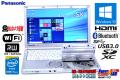 Panasonic 中古ノートパソコン Let's note SX3 Core i5 4300U (1.90GHz) メモリ4G Windows10 WiFi マルチ カメラ USB3.0 Lバッテリー