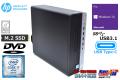 中古パソコン HP ProDesk 600 G3 SFF 4コア8スレッド Core i7 6700 メモリ8G M.2SSD250G HDD1000G USBType-C