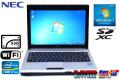 SSD 中古ノートパソコン NEC VK17H/BB-E Core i7 2637M (1.70GHz) WiFi メモリ4G Windows7 12.1型ワイド モバイルPC