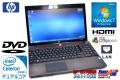 互換オフィス付 中古ノートパソコン HP ProBook 4520s デュアルコア セレロンP4500(1.86GHz) メモリ2GB DVD-ROM Windows7 テンキー搭載