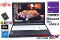 中古ノートパソコン 富士通 LIFEBOOK A576/PX 第6世代 Celeron 3855U 新品SSD128G メモリ4G マルチ WiFi(ac) Bluetooth Windows10