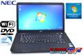 中古ノートパソコン NEC VersaPro VK17E/A-E Celeron B720(1.70GHz) メモリ2G WiFi DVD Windows7
