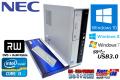 Windows10 NEC 中古パソコン Mate MK33L/L-F Core i3 3220(3.30GHz) メモリ4G マルチ USB3.0 Windows7/8リカバリ付